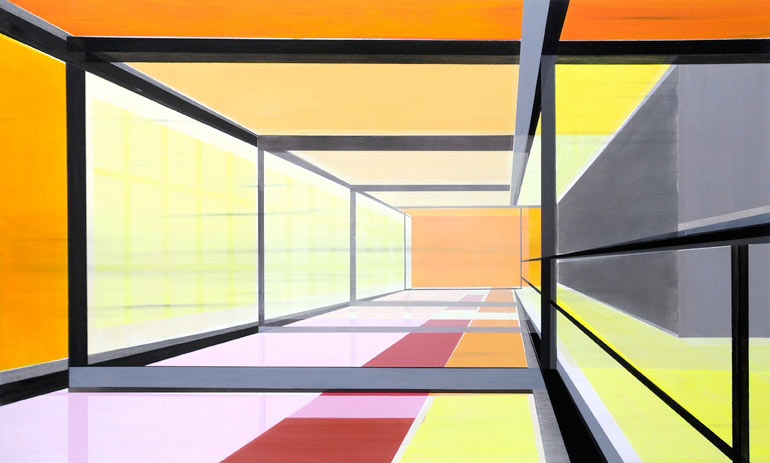 Architectural Paintings by Cécile van Hanja