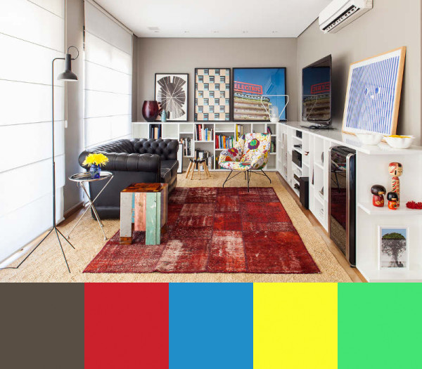 Mauricio Arrudas Color Punctated Interiors in main interior design  Category