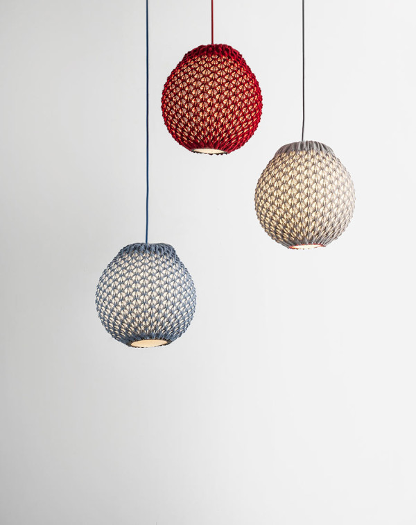 Lamps with a Knitted Shade by Ariel Zuckerman in main home furnishings  Category