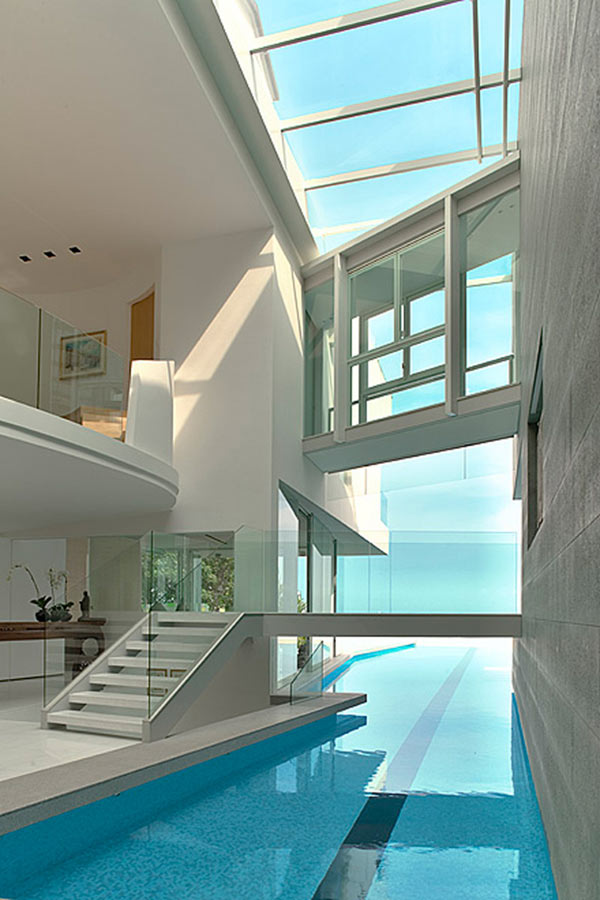 indoor pool new space architects sentosa cove ocean