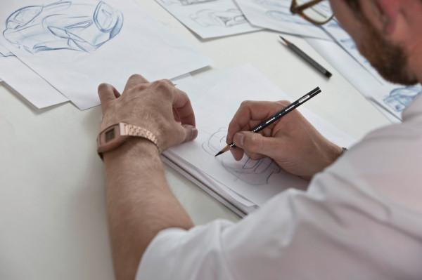 Bastian Baudy sketching