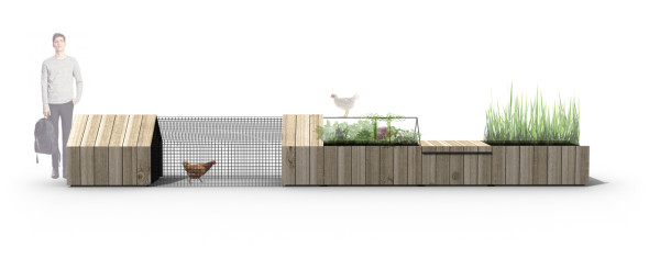 Daily Needs Modular Chicken Coop & Garden in main home furnishings architecture  Category