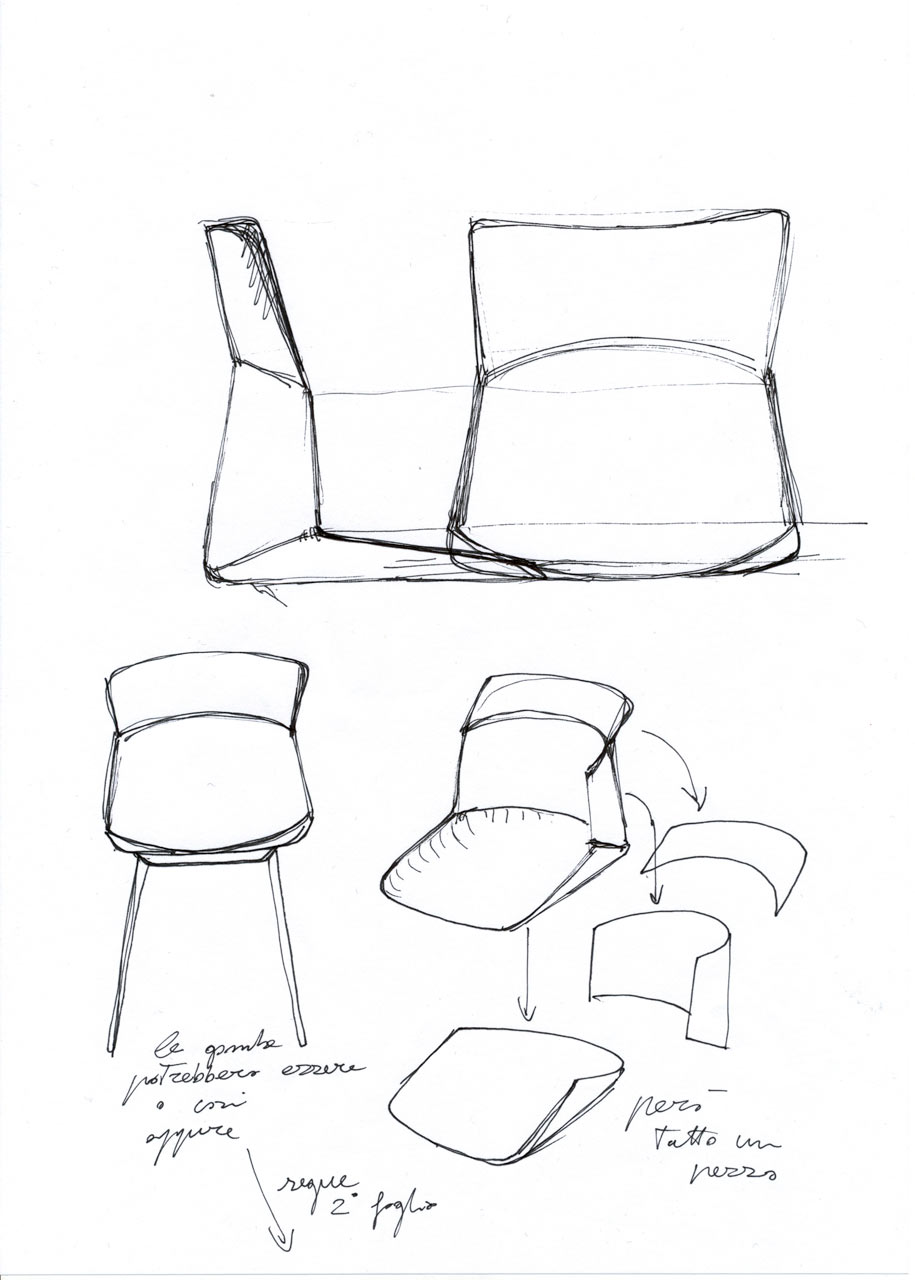 Decon-Motek-Chair-CASSINA-Luca-Nichetto-4-sketch