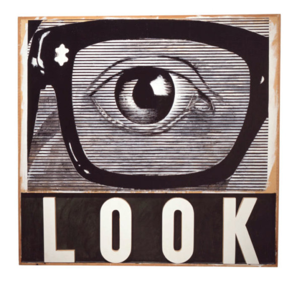 Joe Tilson, LOOK!, 1964 \\ Courtesy Walker Art Center