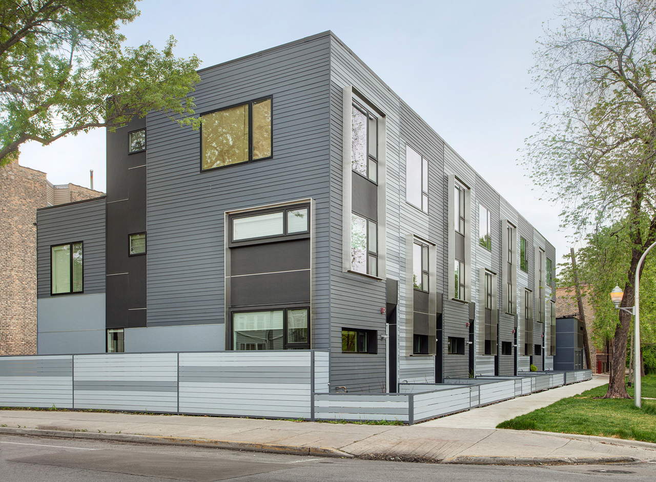 Flexhouse eco friendly row homes in chicago design milk for Home architecture photos