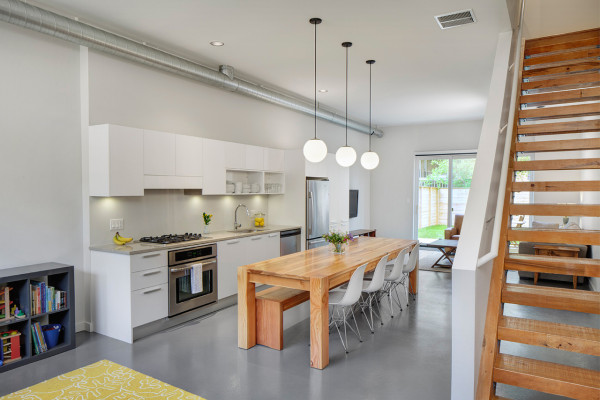 flexhouse: eco-friendly row homes in chicago - design milk