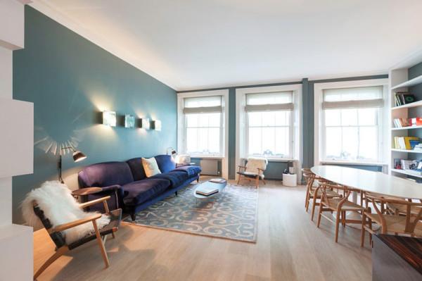 apartment colors. Living Colour Cleveland Square Apartment 3 Eclectic London with an Exuberant Color Palette  Design Milk