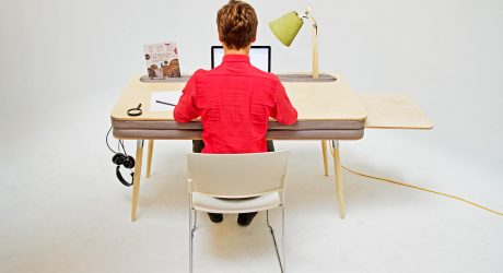 A Comfortable Work Desk That Holds Everything