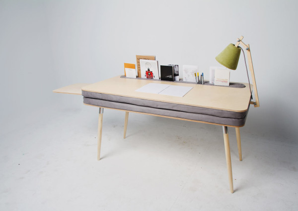OXYMORON-Desk-Anna-Lotova-3 & A Comfortable Work Desk That Holds Everything - Design Milk