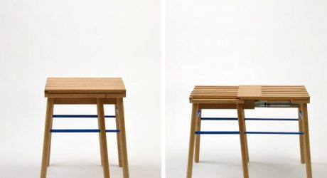 A Stool That Expands to Seat Two