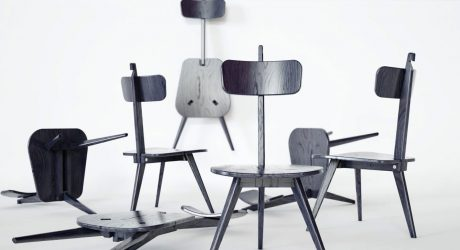 A Three-Legged Chair That Neatly Folds Flat