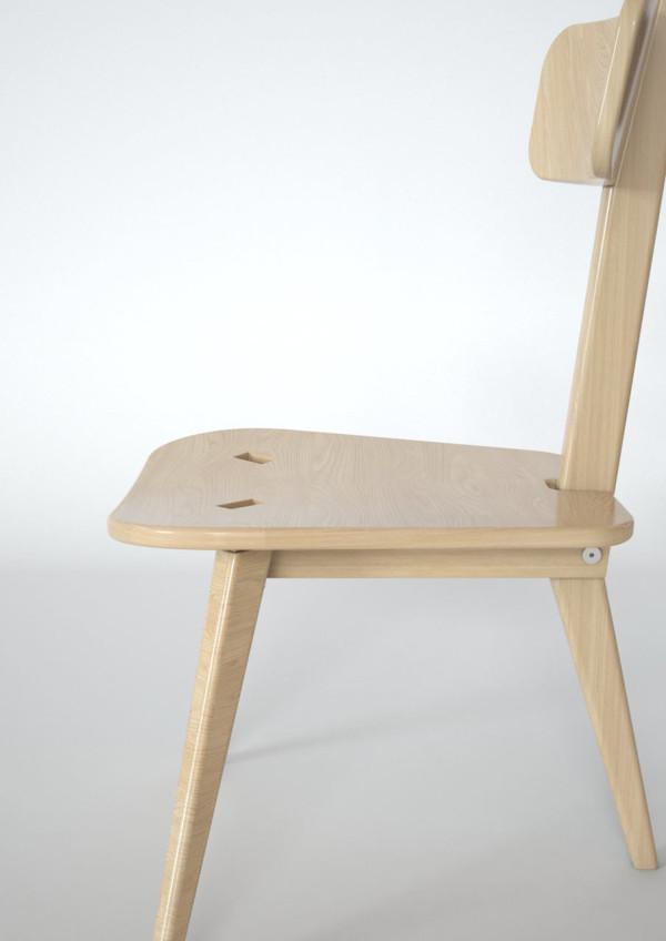 Awe Inspiring A Three Legged Chair That Neatly Folds Flat Design Milk Ibusinesslaw Wood Chair Design Ideas Ibusinesslaworg