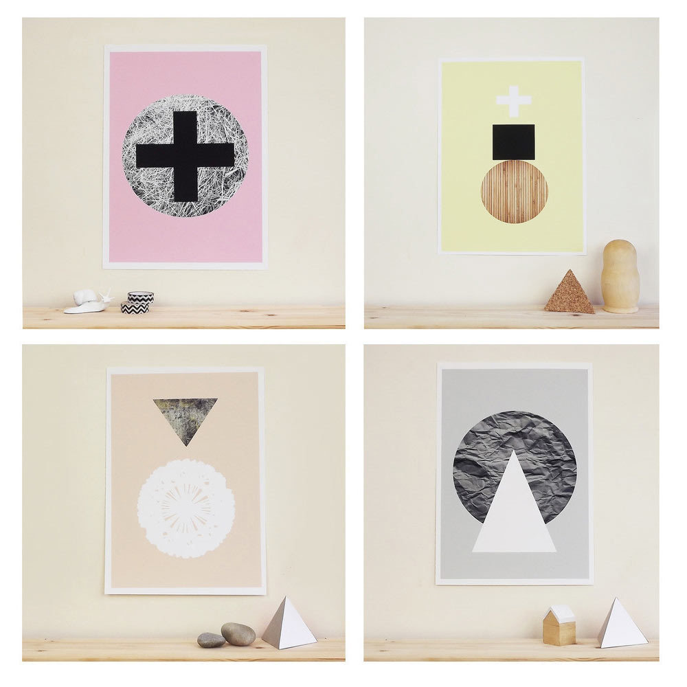 Graphic Textures Posters by Becky Kemp for Sketch.inc