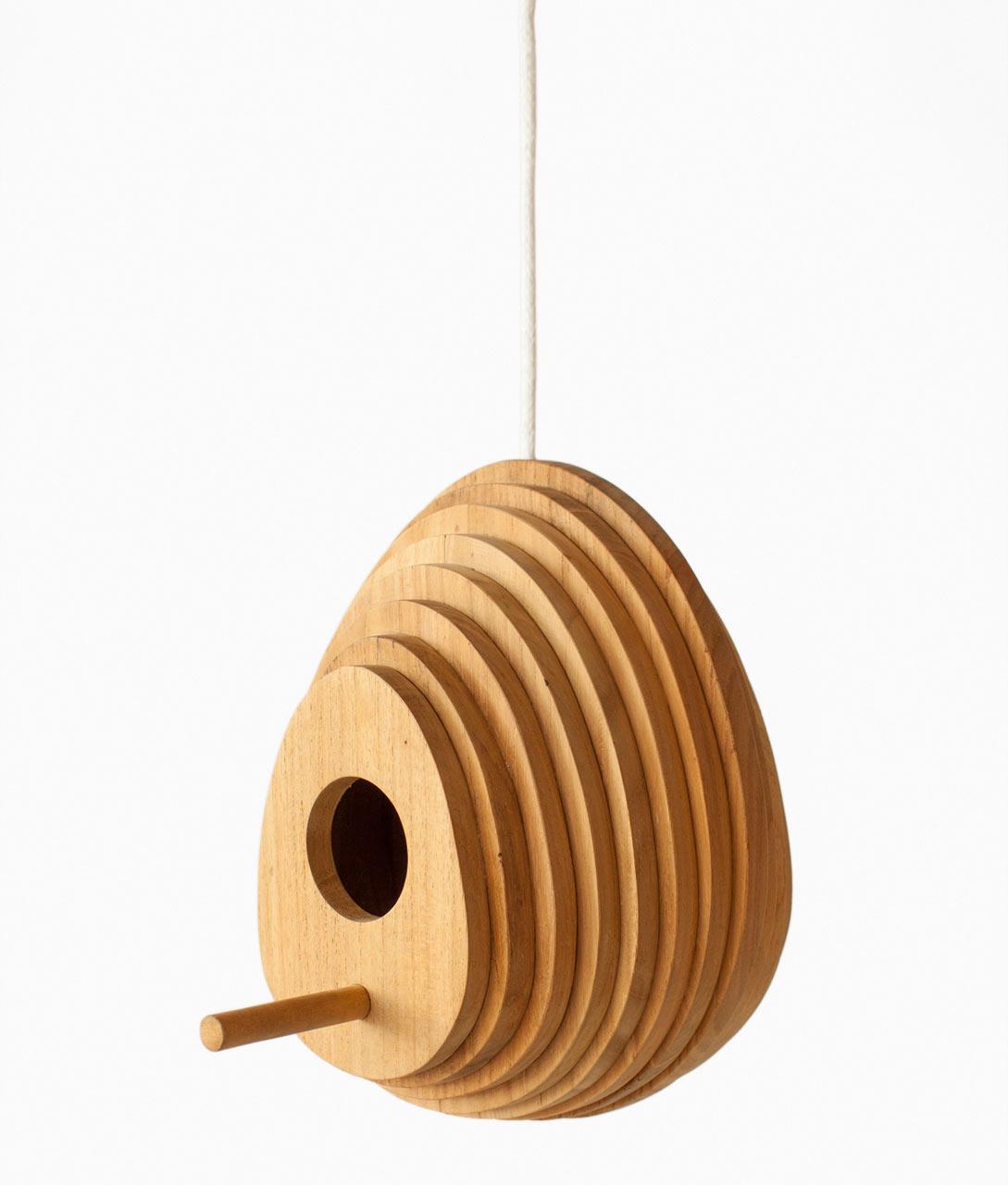 Tree Ring Birdhouse by Jarrod Lim for Hinika