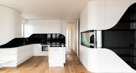 A Black & White Penthouse Apartment Full of Curves
