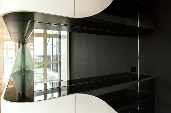 A Black & White Penthouse Apartment Full of Curves in interior design architecture  Category
