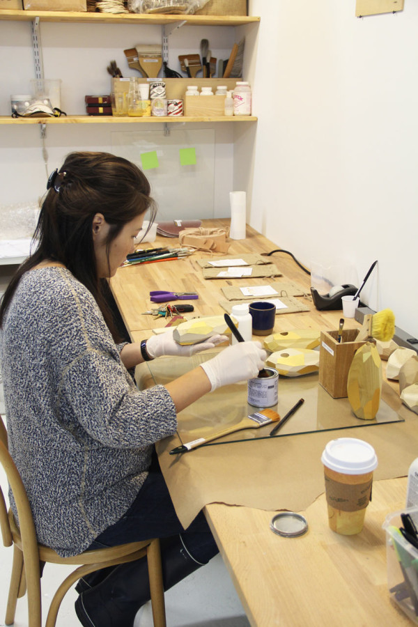 Dorit Candle Holders being made