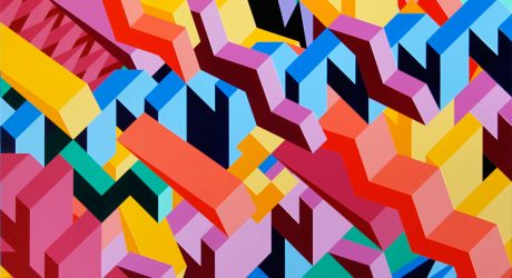 Graphic Paintings by Adam Daily