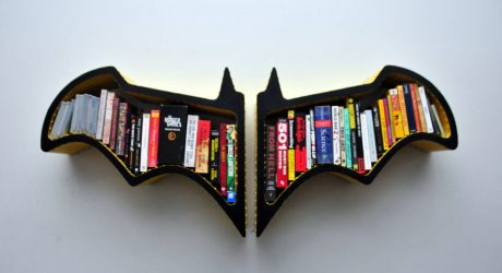 Batman Bat-Shaped Bookshelf