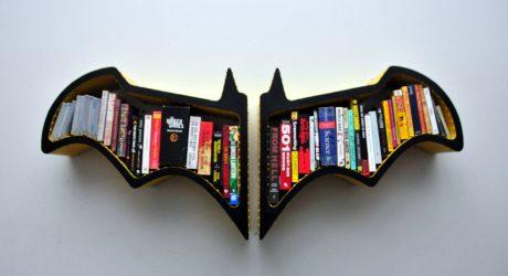 Batman Bat-Shaped Bookshelf