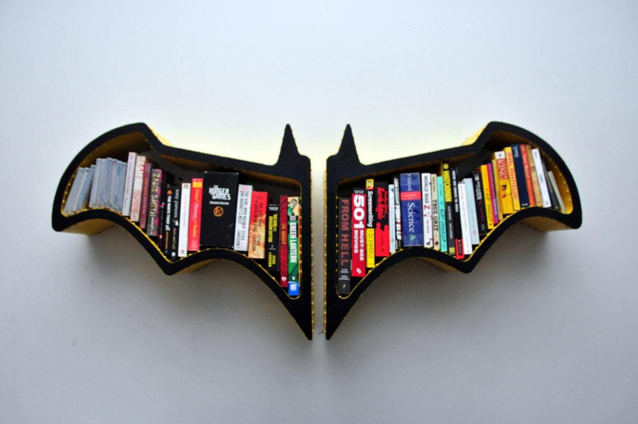 Admirable Batman Bat Shaped Bookshelf Design Milk Largest Home Design Picture Inspirations Pitcheantrous