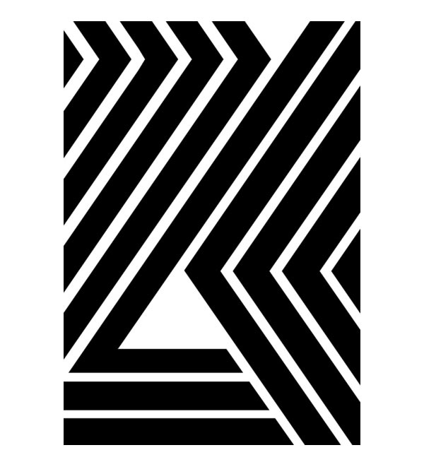 Black stripes geometric graphic artwork