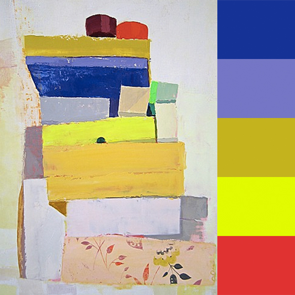 Sydney Licht's Color Stacked Paintings