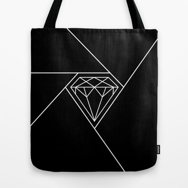 diamond-black-white-tote-bag