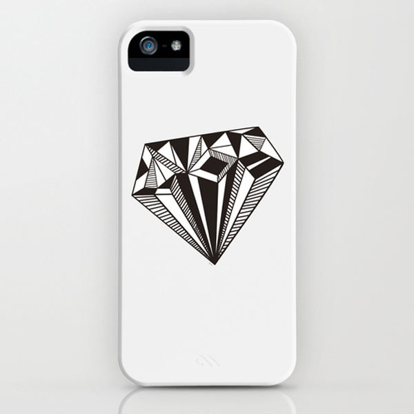 diamong-black-white-iphone-case