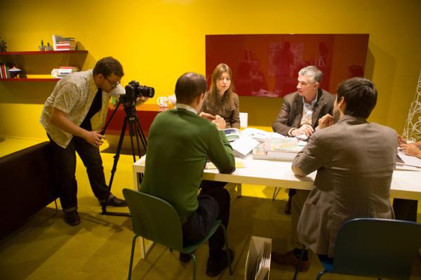 giulio-cappellini-video-shoot-milan-showroom