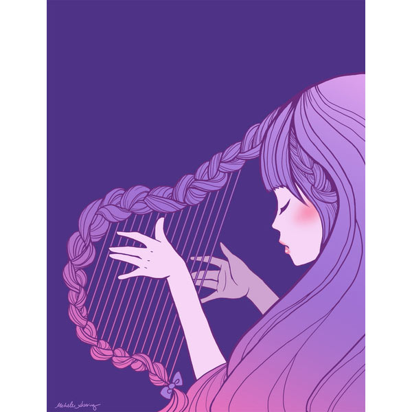 hair-harp-purple-art-print