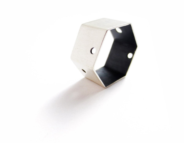 Modern Geometric Silver Jewelry by Laminar in style fashion main  Category