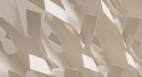 A Divider Screen Made of Paper