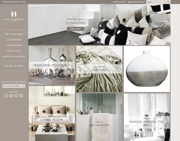 Kelly Hoppen Launches E Commerce Site in main home furnishings  Category