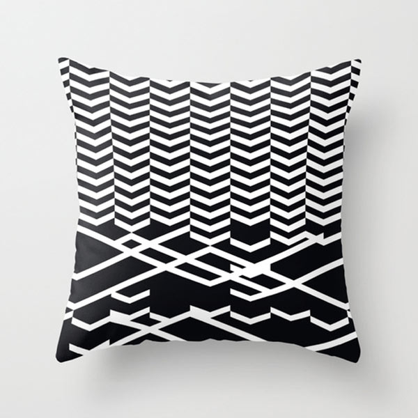 Modern White Pillow : Fresh From The Dairy: Black and White Patterns - Design Milk