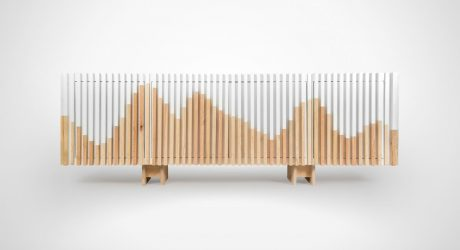 A Credenza Inspired by Mountains