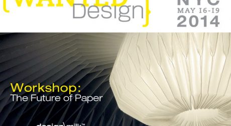 WantedDesign 2014 Student Workshop: The Future of Paper