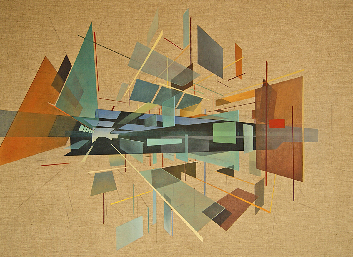 Geometric abstracts with architectural spatial awareness for Art architectural