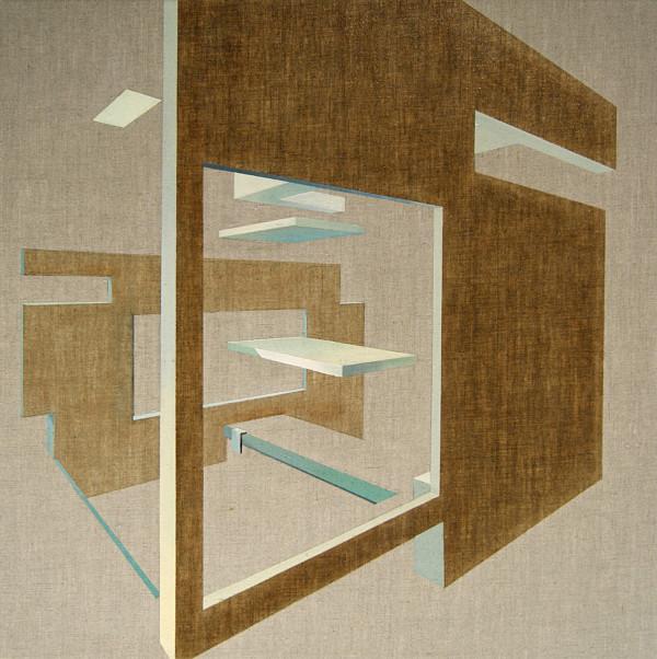 Dive, 70x70cm, Oil on canvas