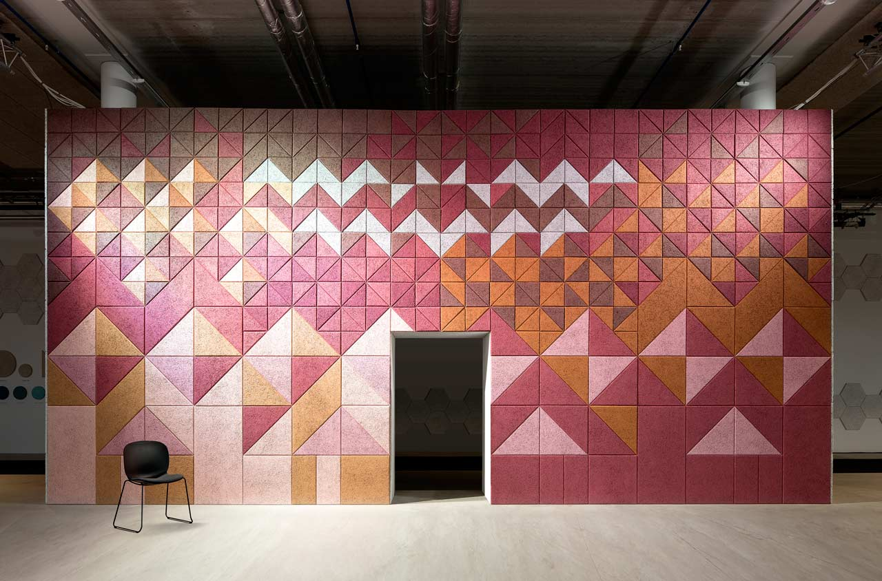 BAUX Sound Absorbing Wall Tiles by Form Us With Love