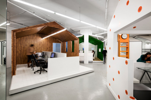 Creative Office Designs a pr agency with a super creative office space - design milk