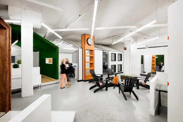 A pr agency with a super creative office space design milk for Creative interior design agency