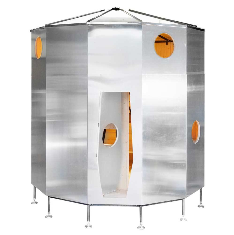 A Futuristic Space Shuttle-Like Mountain Shelter for 8