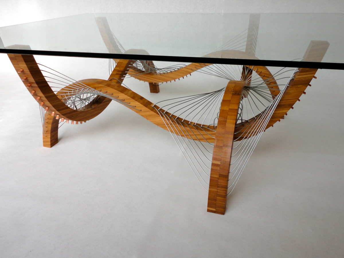 Contour Coffee Table and Lamp by Robby Cuthbert