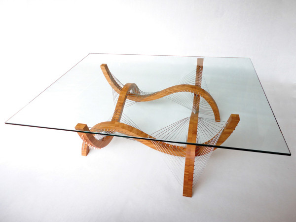 Contour Coffee Table and Lamp by Robby Cuthbert in main home furnishings  Category