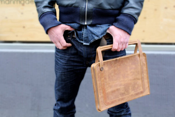 DIN Leather Laptop Bag by germanmade in technology style fashion main  Category