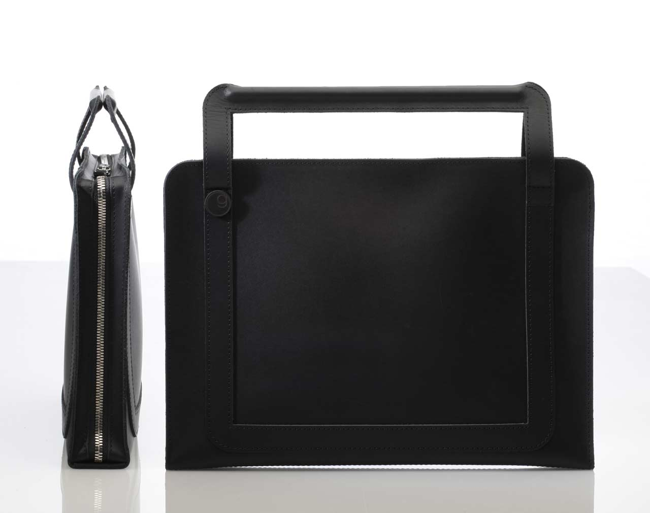 DIN Leather Laptop Bag by germanmade