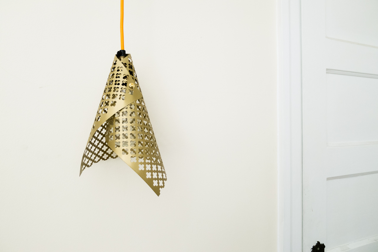 DIY Simple Cone Pendant Lamp