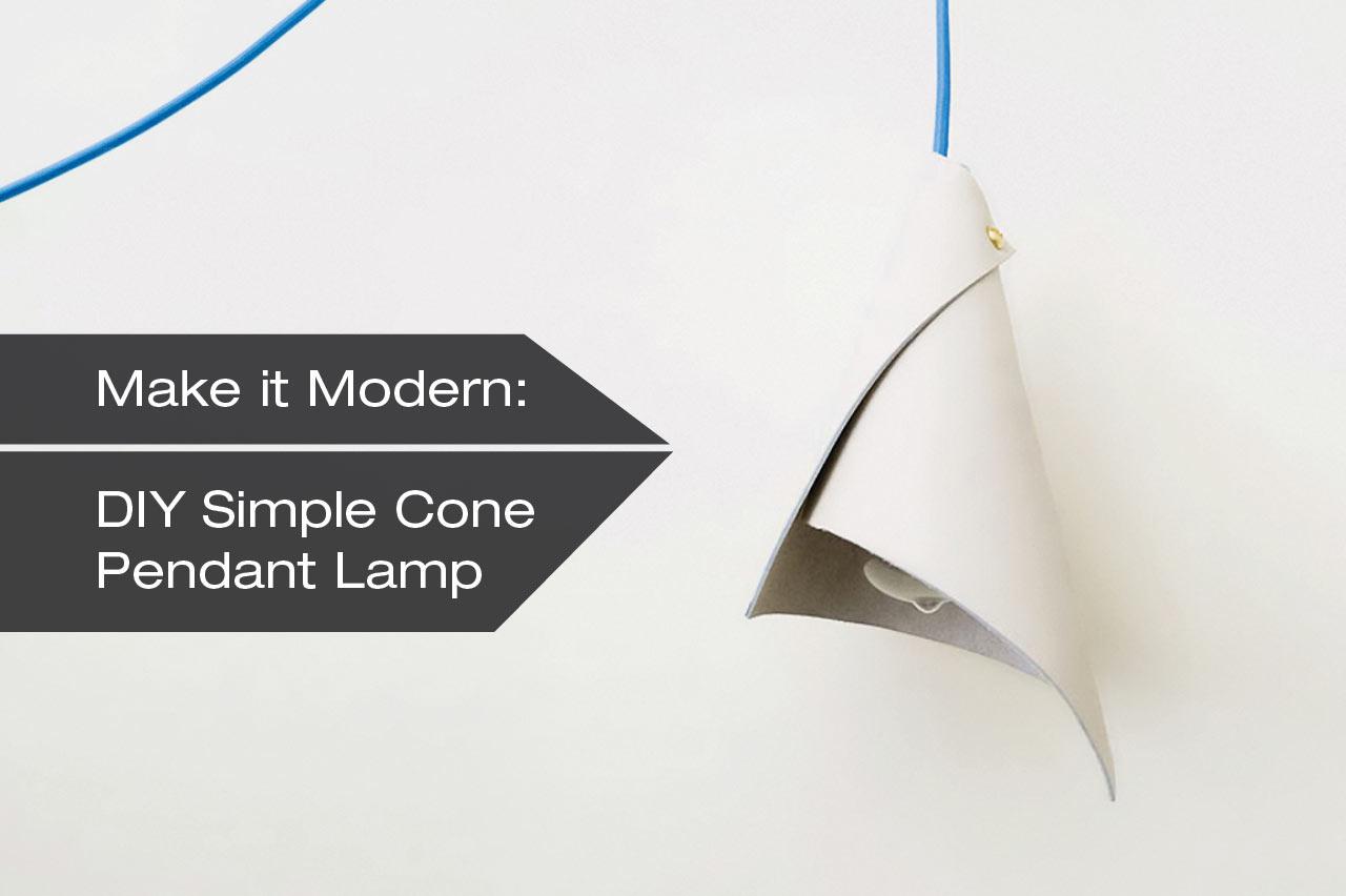 DIY Simple Cone Pendant Lamp