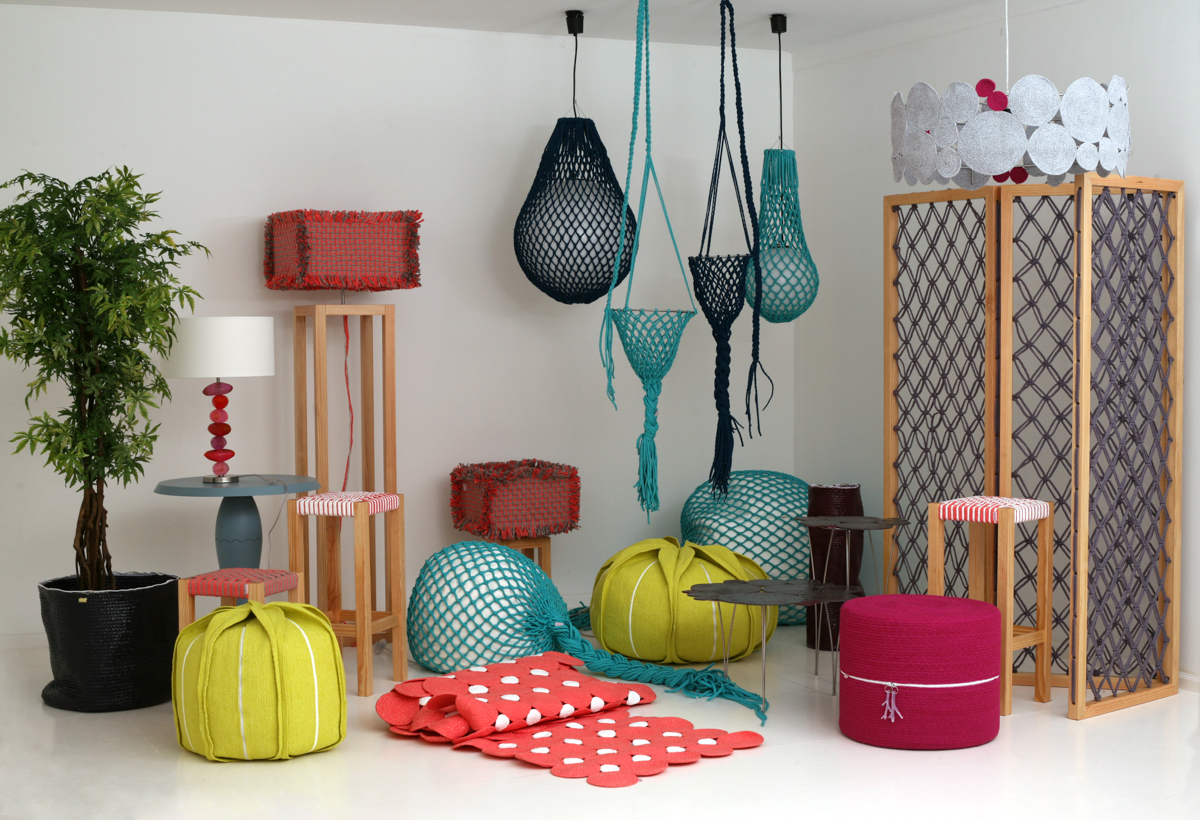 textile furniture and home decor in colorful hues design milk